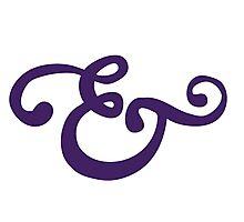 Purple Ampersand Photographic Print