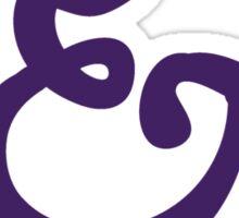 Purple Ampersand Sticker