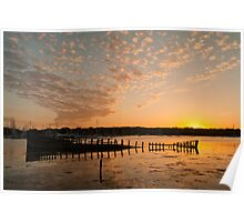 Sunset Over the River Hamble Poster