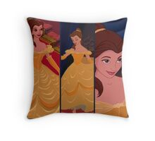 Belle Disney collage Throw Pillow