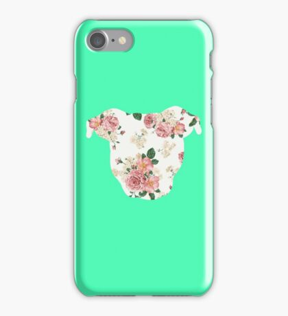 Floral Pittie iPhone Case/Skin