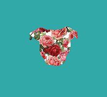 Floral Pittie by Savannah Terrell