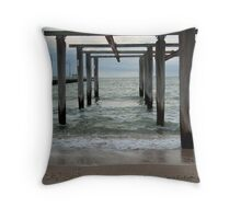 Hobson's Bay Boat Ramp Throw Pillow