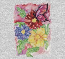Flowers and Butterfly Kids Clothes
