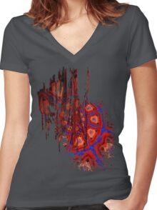 Spiral Crash Women's Fitted V-Neck T-Shirt