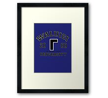 Waluigi University Framed Print