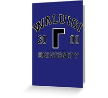 Waluigi University Greeting Card