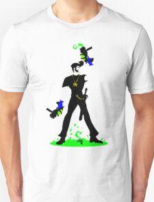 Johnny Blue-gloves: Transparent Assassin Unisex T-Shirt