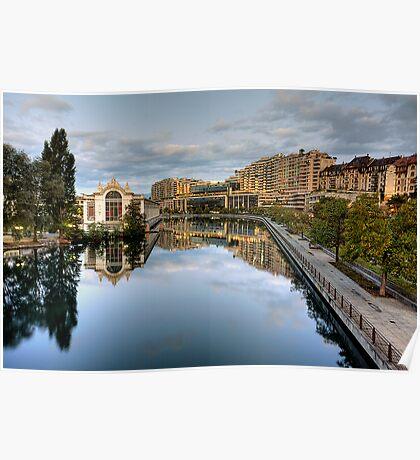 River Rhone leaving Geneva Poster