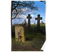 Spring time in the church yard Poster