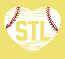 STL Baseball Love Kids Clothes