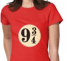 9 3/4 - Red Womens Fitted T-Shirt