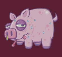 Cartoon Swine Flu Pig by fizzgig
