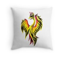 Tribal Firebird Throw Pillow