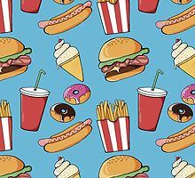 Fast-food pattern by AdeleManuti