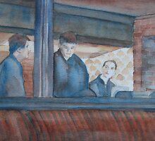 Three Waiters Waiting by JennyArmitage