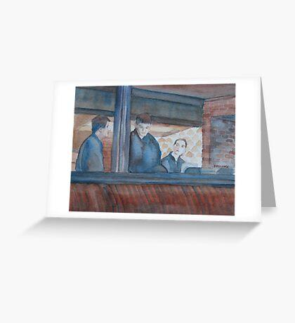 Three Waiters Waiting Greeting Card