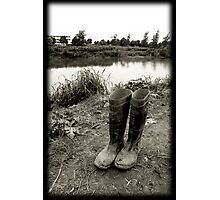 river and boots Photographic Print