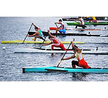 Rowing Race Photographic Print