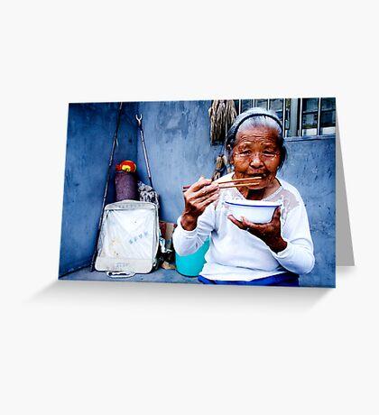 Wrinkled Chopsticks Greeting Card