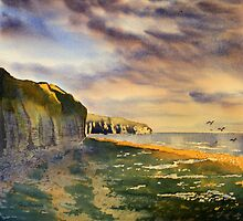 Splash of  Gold- Sewerby Cliffs by Glenn Marshall