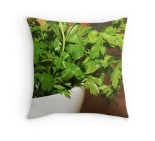 parsley_pot Throw Pillow