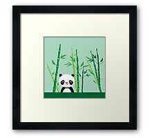 Cute: Panda with Bamboo Framed Print