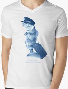 The Pilot (monochrome) Mens V-Neck T-Shirt
