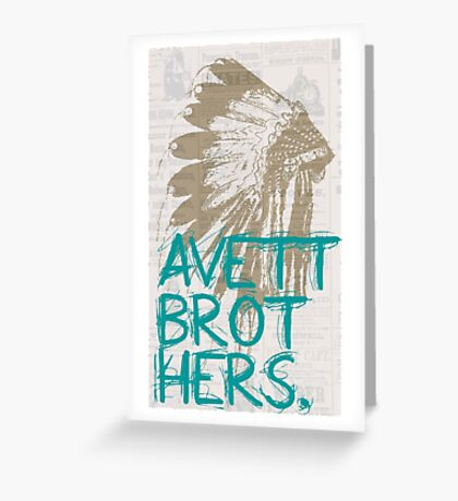 The Avett Brothers Greeting Card