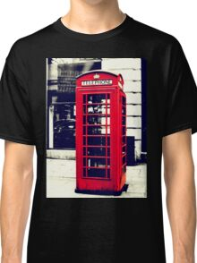 Red British Telephone Booth in London Classic T-Shirt