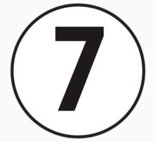 7, Seventh, Number Seven, Number 7, Racing, Seven, Competition, on Navy Blue Kids Clothes