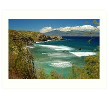 coast of Maui Art Print