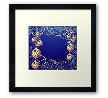 Christmas background Framed Print