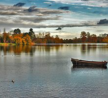 Hever Castle Lake by Adri  Padmos