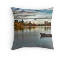 Hever Castle Lake Throw Pillow