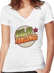 Film Fandango Logo - CLASSIC Women's Fitted V-Neck T-Shirt