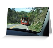 TROLLEY CAR Greeting Card