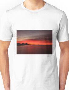 Fire over the Gulf Unisex T-Shirt