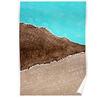 Desert Mountains original painting Poster