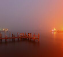 foggy harbour by kathy s gillentine