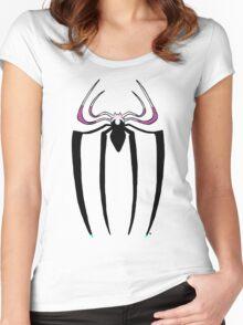 Spider-Gwen logo Women's Fitted Scoop T-Shirt