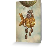 Around the World in the Goldfish Flyer Greeting Card