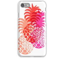 Momona Hawaiian Tropical Pineapple - Red, Pink & Coral iPhone Case/Skin