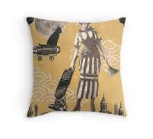 Steampunk Witch Throw Pillow