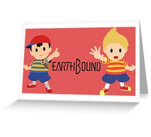 Earthbound - Ness and Lucas Greeting Card