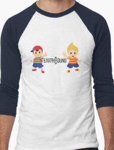 Earthbound - Ness and Lucas Men's Baseball ¾ T-Shirt