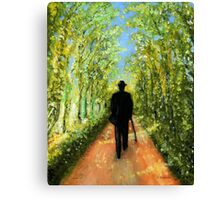 Country Rush in Oil Paint Canvas Print
