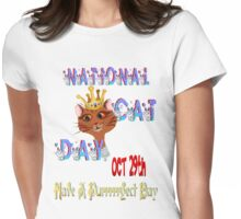 National Cat Day Womens Fitted T-Shirt