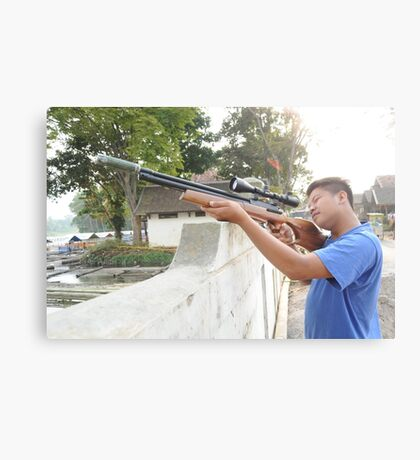 Targetting with Riffle Canvas Print