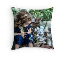 Granny's Garden Throw Pillow